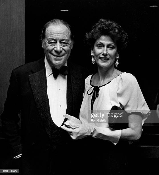 Actor Rex Harrison and wife Mercia Tinker attend Kennedy Center Honors Reception on December 5 1981 at the State Department Building in Washington DC