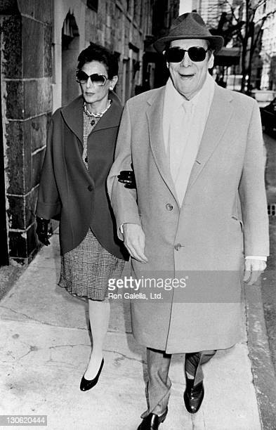 Actor Rex Harrison and wife Mercia Tinker sighted on April 16 1990 in New York City
