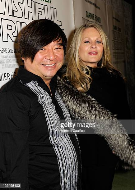 """Actor Rex Lee and actress Beverly D'Angelo arrive at the premiere of HBO's documentary """"Wishful Drinking"""" at Linwood Dunn Theater at the Pickford..."""