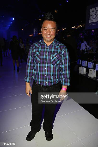Actor Rex Lee poses prior to the L'Oreal Paris Runway 3 show during day four of L'Oreal Melbourne Fashion Festival on March 21 2013 in Melbourne...