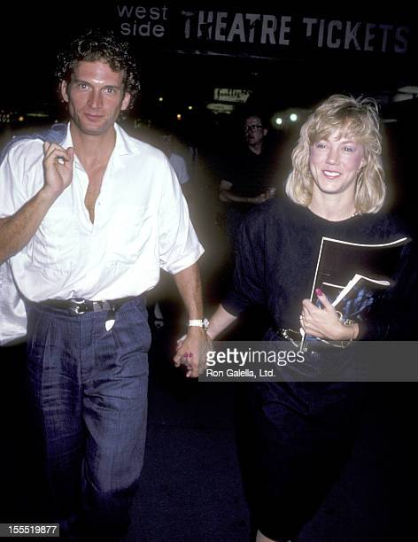 Actor Rex Smith and date Jamie Buell attend the Song and Dance Broadway Performance on May 31 1986 at the Royale Theatre in New York City