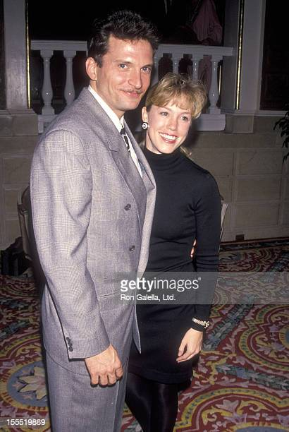 Actor Rex Smith and wife Jamie Buell attend Helen Hayes' 90th Birthday Celebration on October 22 1990 at The Plaza Hotel in New York City New York