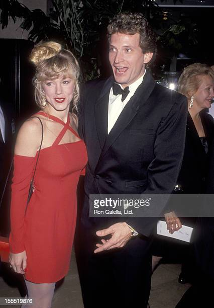 Actor Rex Smith and wife Jamie Buell attend the Eighth Annual Soap Opera Digest Awards on January 10 1992 at Beverly Hilton Hotel in Beverly Hills...