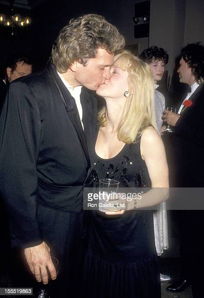 Actor Rex Smith and wife Jamie Buell attend the Roundabout Theatre Company's Annual Gourmet Gala on May 11 1987 at the Roundabout Theatre in New York...