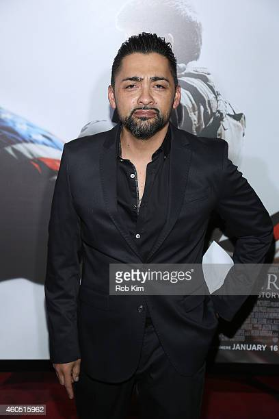 Actor Rey Gallegos arrives at the American Sniper New York Premiere at Frederick P Rose Hall Jazz at Lincoln Center on December 15 2014 in New York...
