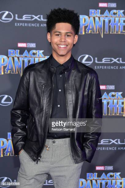 Actor Rhenzy Feliz attends the premiere of Disney and Marvel's 'Black Panther' at Dolby Theatre on January 29 2018 in Hollywood California