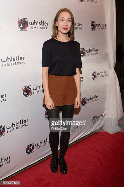 Actor Rhian Rees attends the World Premiere screening of 'Rehearsal' during the 2015 Annual Whistler Film Festival at Millneium Place in Whistler...