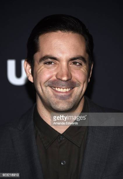 Actor Rhys Coiro arrives at the premiere of USA Network's 'Unsolved The Murders of Tupac and The Notorious BIG' at Avalon on February 22 2018 in...