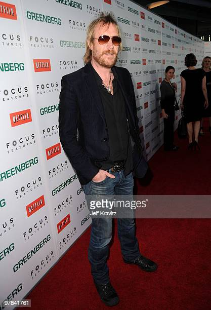 Actor Rhys Ifans arrives at the premiere of 'Greenberg' presented by Focus Features at ArcLight Hollywood on March 18 2010 in Hollywood California