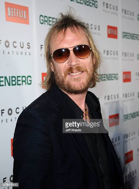 Actor Rhys Ifans arrives at the premiere of Greenberg presented by Focus Features at ArcLight Hollywood on March 18 2010 in Hollywood California