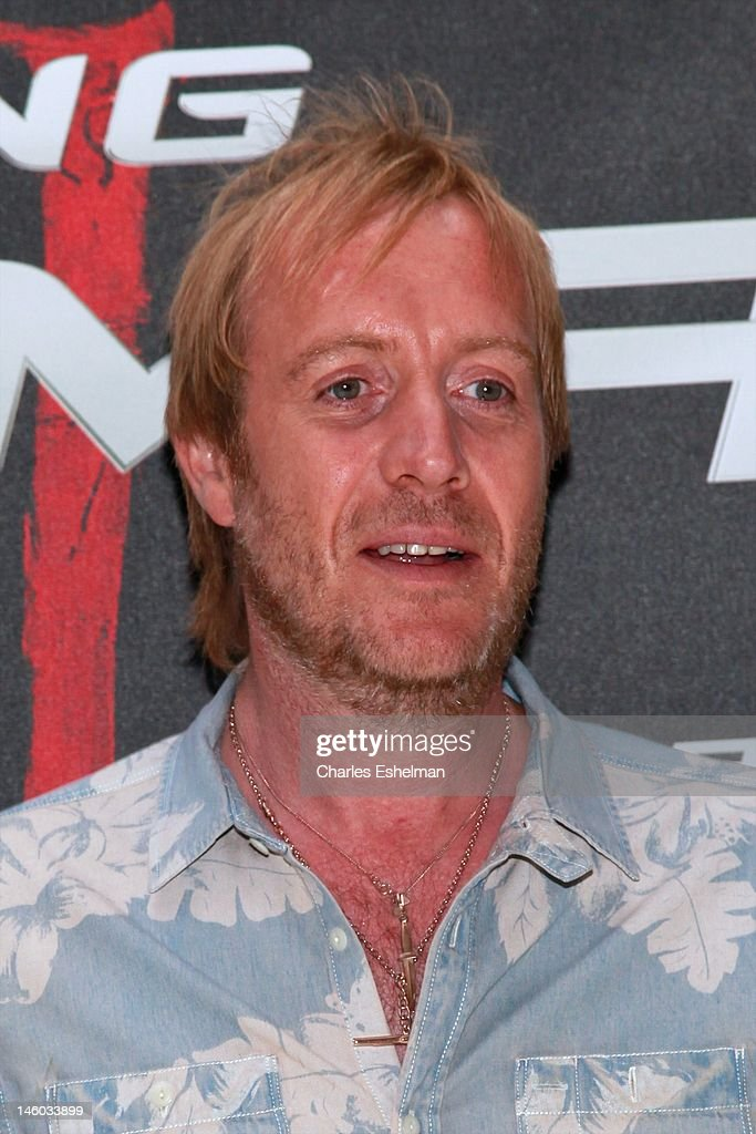 Actor Rhys Ifans attends the 'The Amazing Spider-Man' New York City Photo Call at Crosby Street Hotel on June 9, 2012 in New York City.