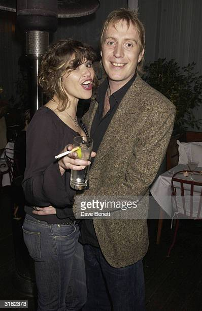 Actor Rhys Ifans with his girlfriend Jess Morris at the launch party for actor Kevin Spacey's 'Triggerstreetcom' project on 26th November 2002 at Ian...