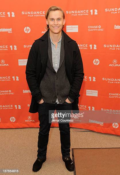 Actor Rhys Wakefield attends the 'Nobody Walks' premiere during the 2012 Sundance Film Festival held at Eccles Center Theatre on January 22 2012 in...