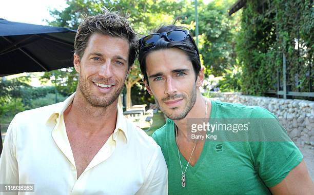Actor Rib Hillis and actor Brandon Beemer attend the Los Angeles Philharmonic and Venice Magazine's 11th Annual Hollywood Bowl PreConcert Picnic held...