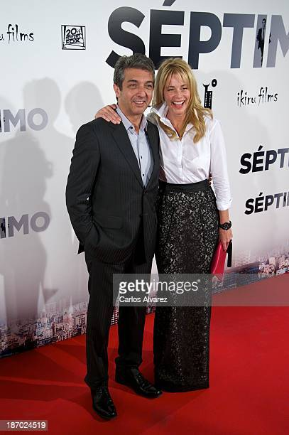 Actor Ricardo Darin and Spanish actress Belen Rueda attend the Septimo premiere at the Capitol cinema on November 5 2013 in Madrid Spain
