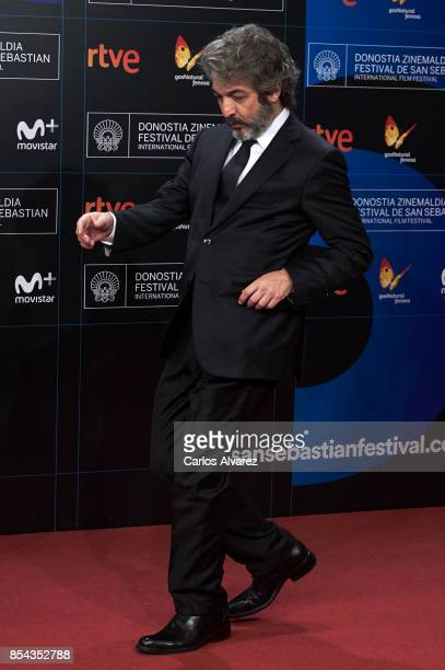 Actor Ricardo Darin attends 'La Cordillera' premiere during the 65th San Sebastian International Film Festival on September 26 2017 in San Sebastian...