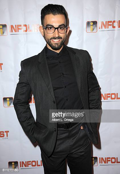 Actor Ricardo Fabrizio arrives for the InfoList PreOscar Soiree And Birthday Party for Jeff Gund held at OHM Nightclub on February 18 2016 in...