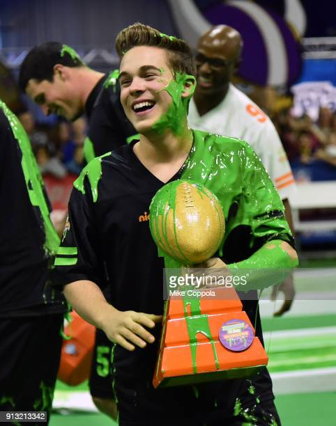 Actor Ricardo Hurtado attends the Superstar Slime Showdown taping at Nickelodeon at the Super Bowl Experience on February 1 2018 in Minneapolis...