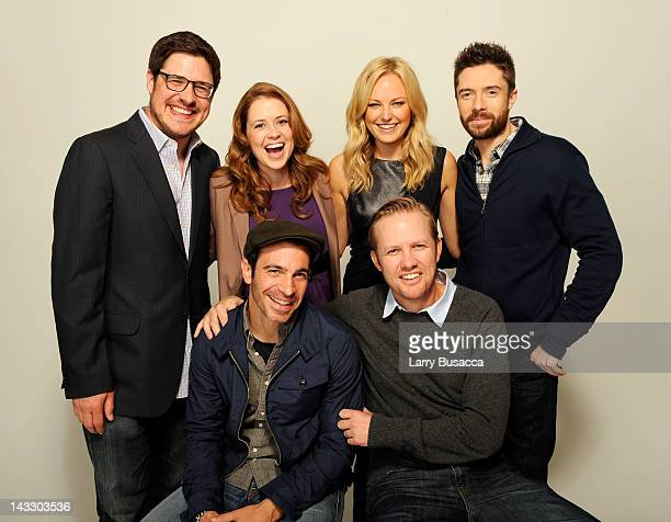 Actor Rich Sommer actress Jenna Fischer actress Malin Akerman actor Topher Grace actor Chris Messina and writer/director Lee Kirk of the film 'The...