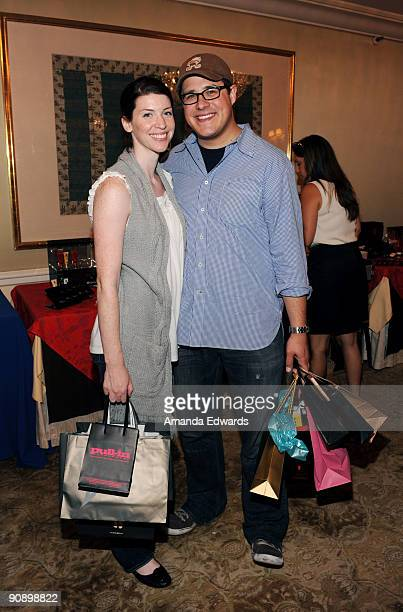 Actor Rich Sommer and his wife Virginia attend the DPA preEmmy Gift Lounge at the Peninsula Hotel on September 17 2009 in Beverly Hills California