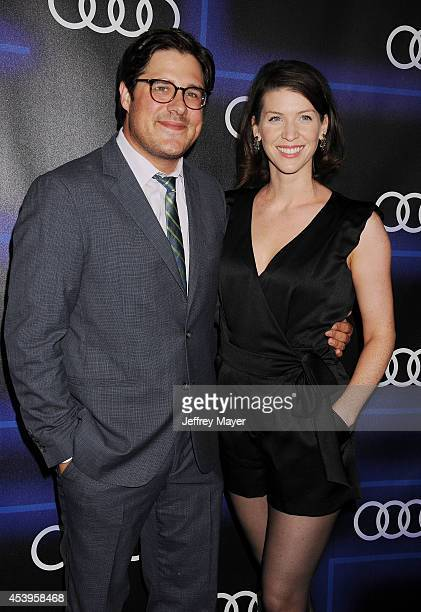 Actor Rich Sommer and Virginia Donohoe arrive at the Audi Emmy Week Celebration at Cecconi's Restaurant on August 21 2014 in Los Angeles California