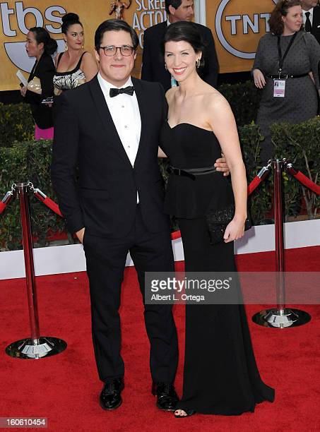 Actor Rich Sommer and Virginia Donohoe arrive for the 19th Annual Screen Actors Guild Awards Arrivals held at The Shrine Auditorium on January 27...