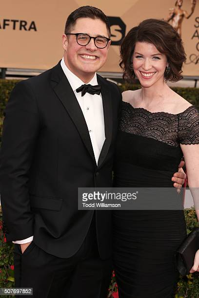 Actor Rich Sommer and Virginia Donohoe attend the 22nd Annual Screen Actors Guild Awards at The Shrine Auditorium on January 30 2016 in Los Angeles...