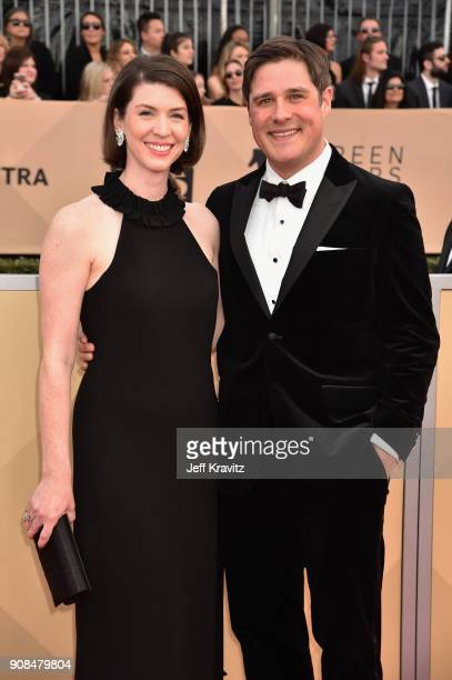 Actor Rich Sommer and Virginia Donohoe attend the 24th Annual Screen Actors Guild Awards at The Shrine Auditorium on January 21 2018 in Los Angeles...