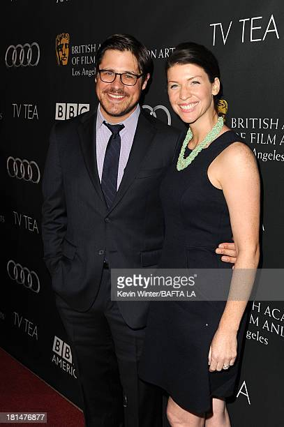 Actor Rich Sommer and Virginia Donohoe attend the BAFTA LA TV Tea 2013 presented by BBC America and Audi held at the SLS Hotel on September 21 2013...