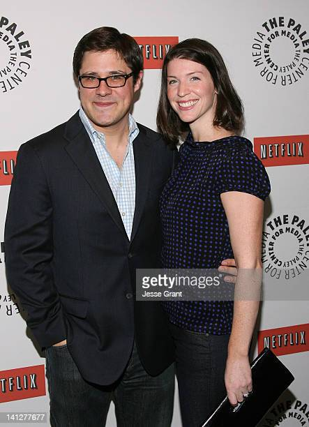 Actor Rich Sommer and Virginia Donohoe attend The Paley Center for Media's PaleyFest 2012 Honoring 'Mad Men' at Saban Theatre on March 13 2012 in...