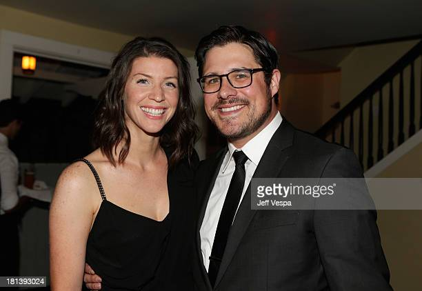 Actor Rich Sommer and Virginia Donohoe attend Vanity Fair and Maybelline toast to Mad Men at Chateau Marmont on September 20 2013 in Los Angeles...