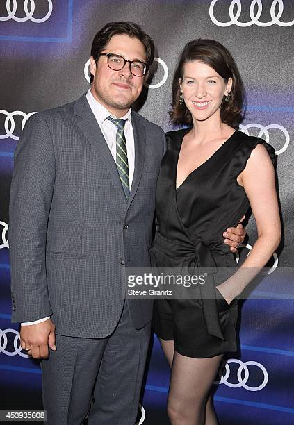 Actor Rich Sommer and Virginia Donohoe attends Audi Emmy Week Celebration at Cecconi's Restaurant on August 21 2014 in Los Angeles California
