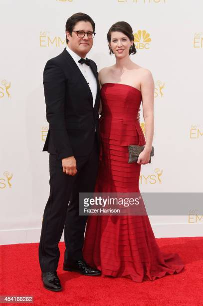 Actor Rich Sommer and Virginia Donohoeattends the 66th Annual Primetime Emmy Awards held at Nokia Theatre LA Live on August 25 2014 in Los Angeles...