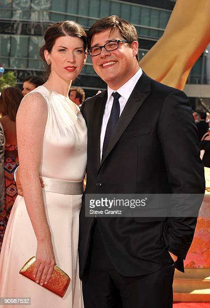 Actor Rich Sommer and wife Virginia Donohoe arrive at the 61st Primetime Emmy Awards held at the Nokia Theatre on September 20 2009 in Los Angeles...