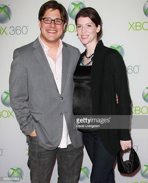 Actor Rich Sommer and wife Virginia Donohoe attend the premiere of Xbox 360's Project Natal at Galen Center on June 13 2010 in Los Angeles California