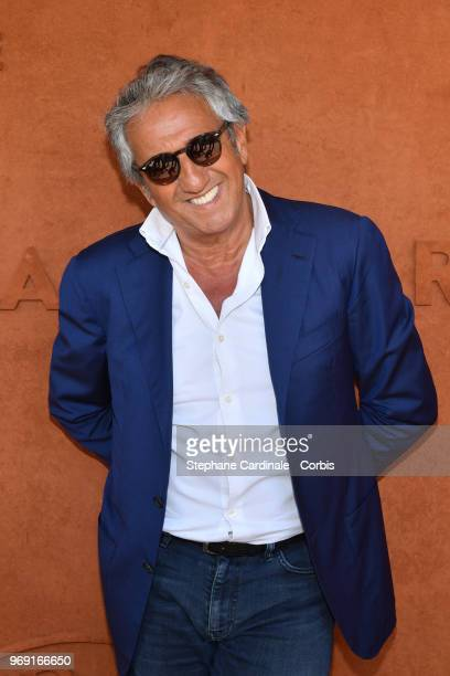 Actor Richard Anconina attends the 2018 French Open Day Twelve at Roland Garros on June 7 2018 in Paris France