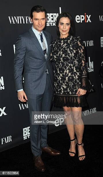 Actor Richard Armitage and actress Michelle Forbes arrive for the Premiere Of EPIX's 'Berlin Station' held at Milk Studios on September 29 2016 in...