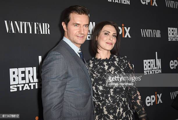 Actor Richard Armitage and Michelle Forbes attend EPIX 'Berlin Station' LA premiere at Milk Studios on September 29 2016 in Los Angeles California