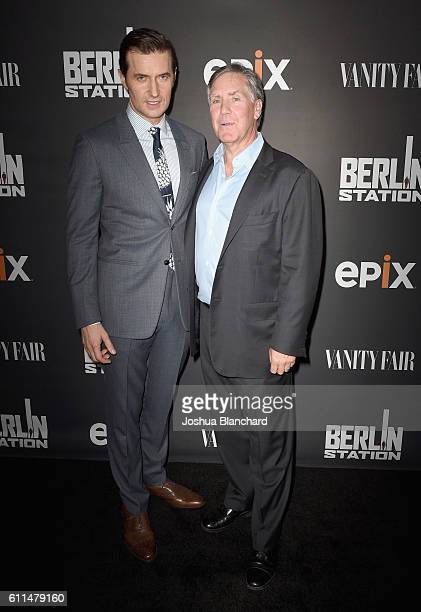 Actor Richard Armitage and President/CEO of EPIX Mark Greenberg attend EPIX 'Berlin Station' LA premiere at Milk Studios on September 29 2016 in Los...