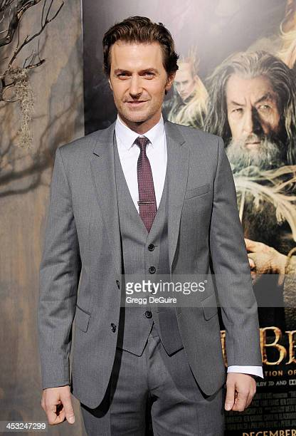 Actor Richard Armitage arrives at the Los Angeles premiere of The Hobbit The Desolation Of Smaug at TCL Chinese Theatre on December 2 2013 in...