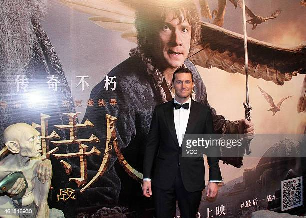 Actor Richard Armitage attends The Hobbit The Battle of the Five Armies Beijing Conference on January 20 2015 in Beijing China
