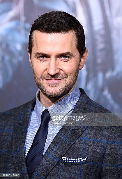 """Actor Richard Armitage attends the premiere of New Line Cinema, MGM Pictures And Warner Bros. Pictures' """"The Hobbit: The Battle Of The Five Armies""""..."""