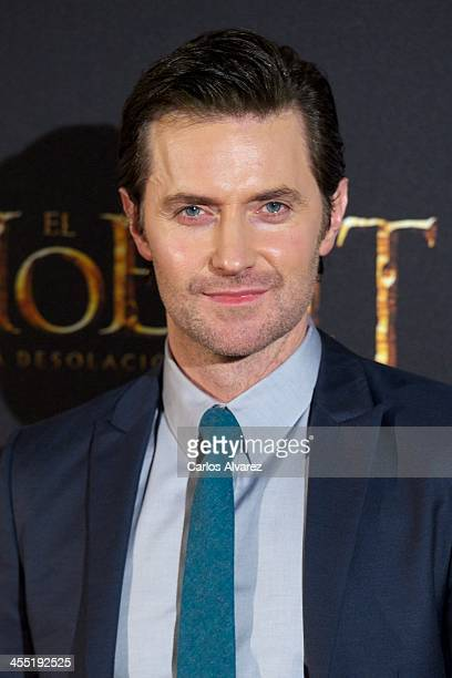 Actor Richard Armitage attends the The Hobbit The Desolation of Smaug premiere at the Kinepolis cinema on December 11 2013 in Madrid Spain