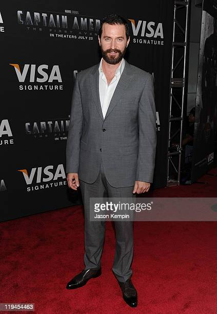 Actor Richard Armitage attends the Visa Signature VIP Screening of Captain America at AMC Loews Lincoln Square 13 theater on July 20 2011 in New York...