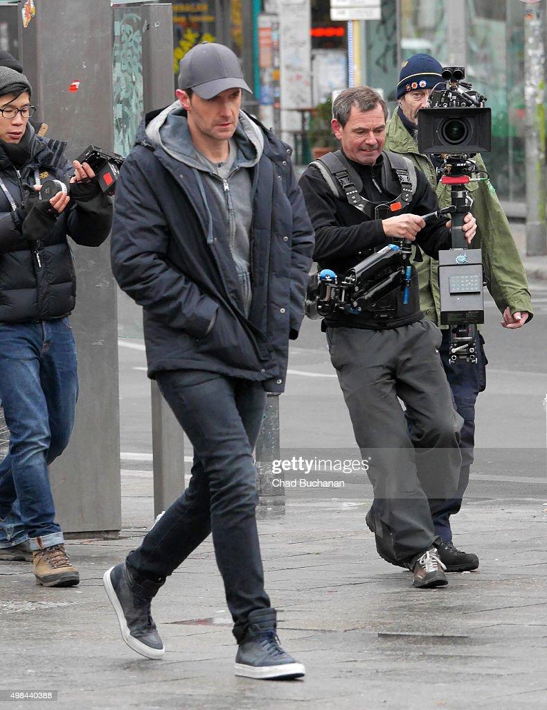 Actor Richard Armitage seen filming on November 23, 2015 in Berlin, Germany.