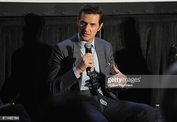 Actor Richard Armitage speaks EPIX 'Berlin Station' LA premiere at Milk Studios on September 29 2016 in Los Angeles California