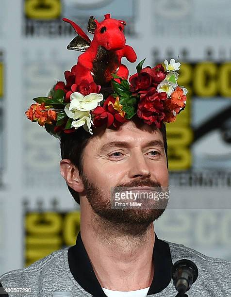 Actor Richard Armitage wears a flower crown at the 'Hannibal' Savor the Hunt panel during ComicCon International 2015 at the San Diego Convention...