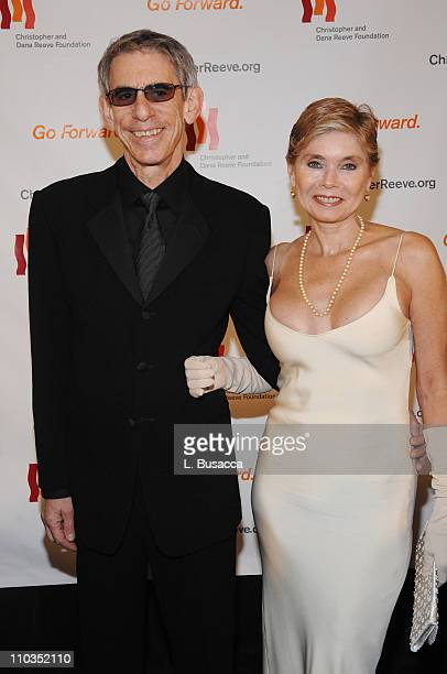 """Actor Richard Belzer and Harlee McBride attend """"A Magical Evening"""" hosted by The Christopher and Dana Reeve Foundation at The Marriott Marquis on..."""
