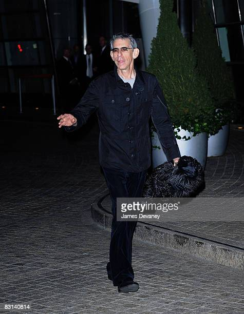 Actor Richard Belzer departs the wedding of Howard Stern and Beth Ostrosky at Le Cirque on October 3 2008 in New York City