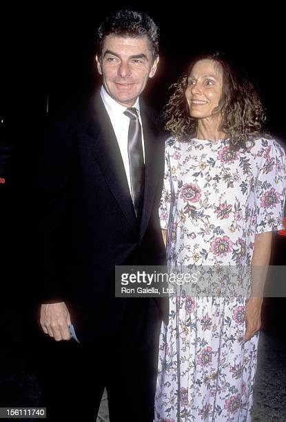 Actor Richard Benjamin and Actress Paula Prentiss attend the Wedding Reception for Neil Simon and Diane Lander on February 10 1990 at The Bistro in...